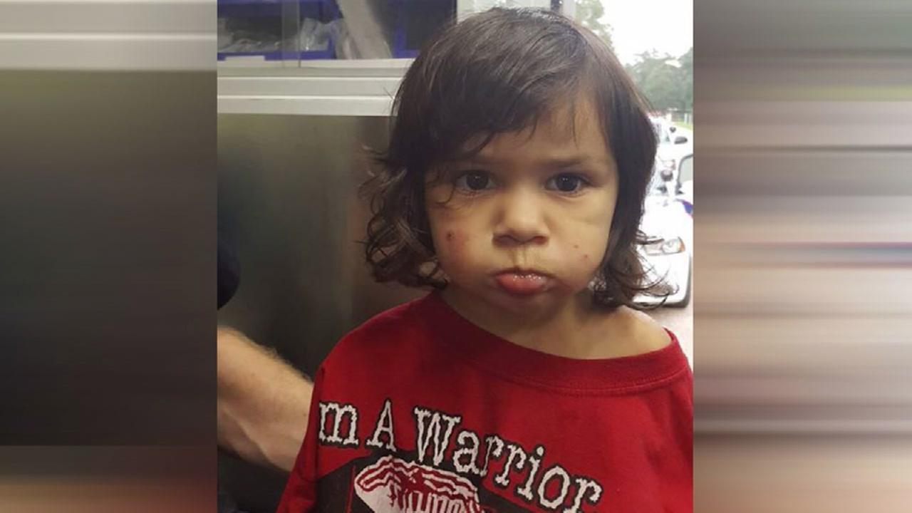 Child found alone on street in Willis
