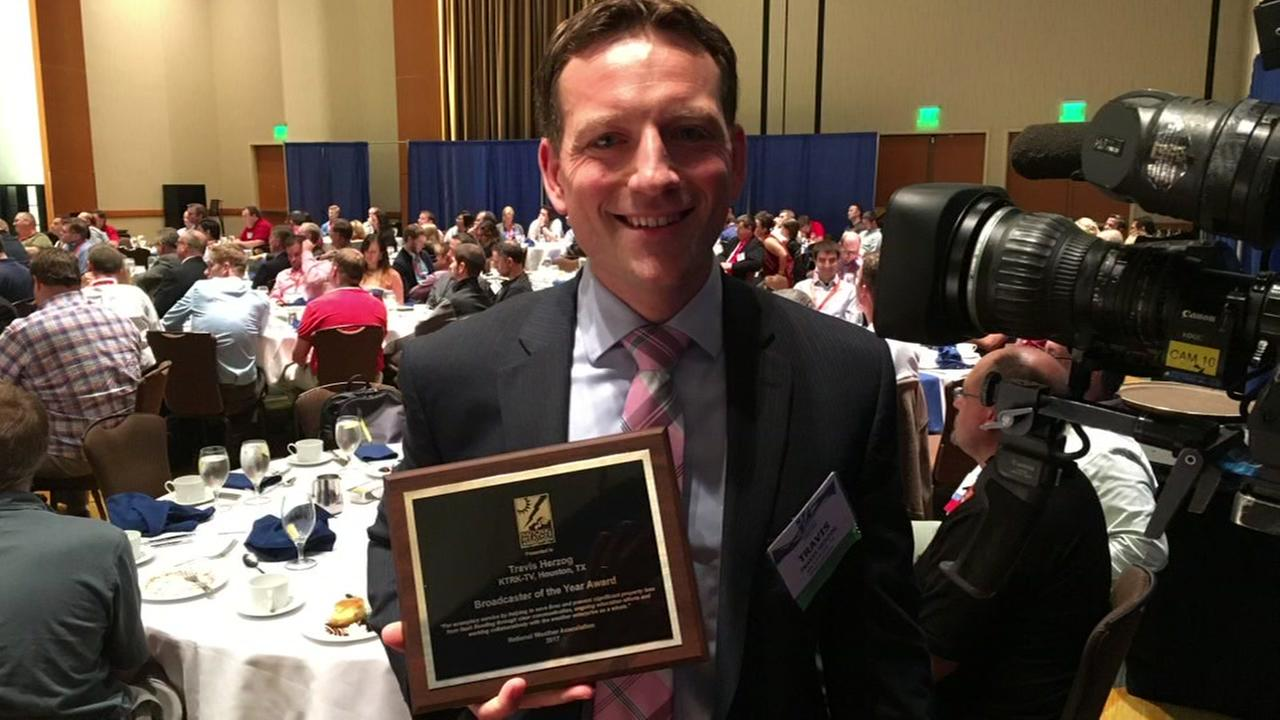 Travis Herzog honored as NWAs Broadcaster of the Year