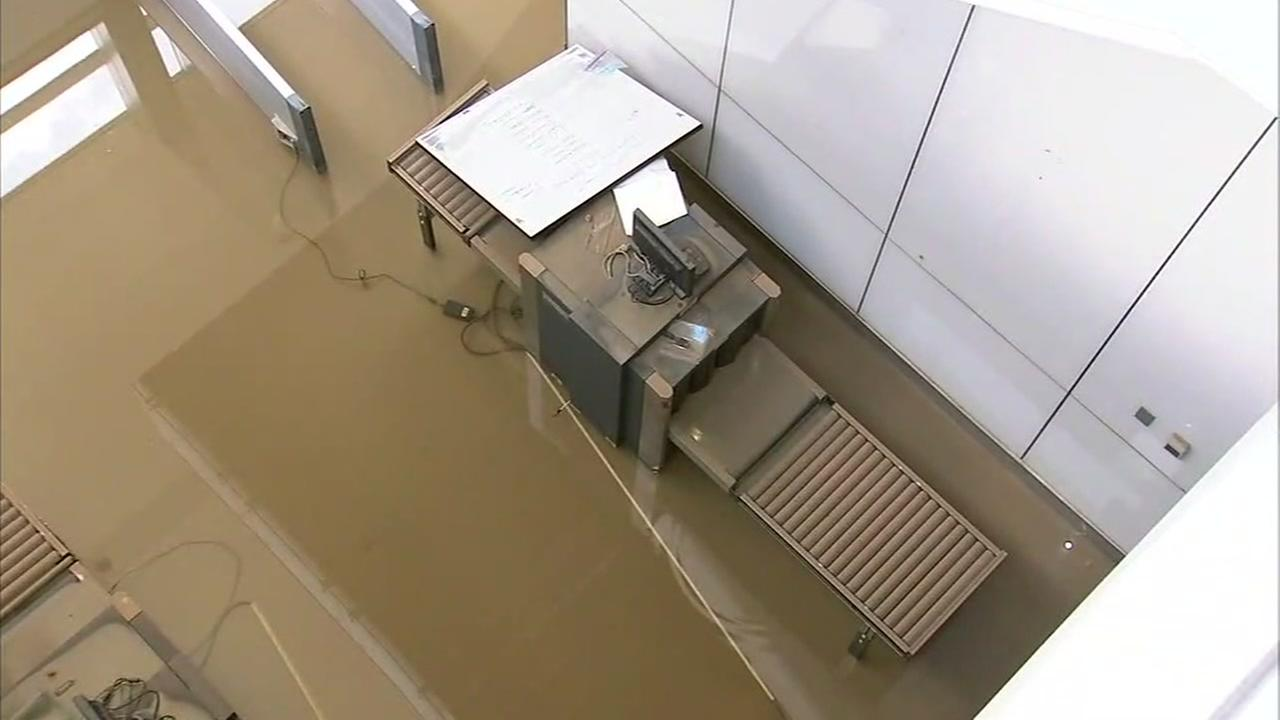 Jury assembly building suffers severe damage from Harvey