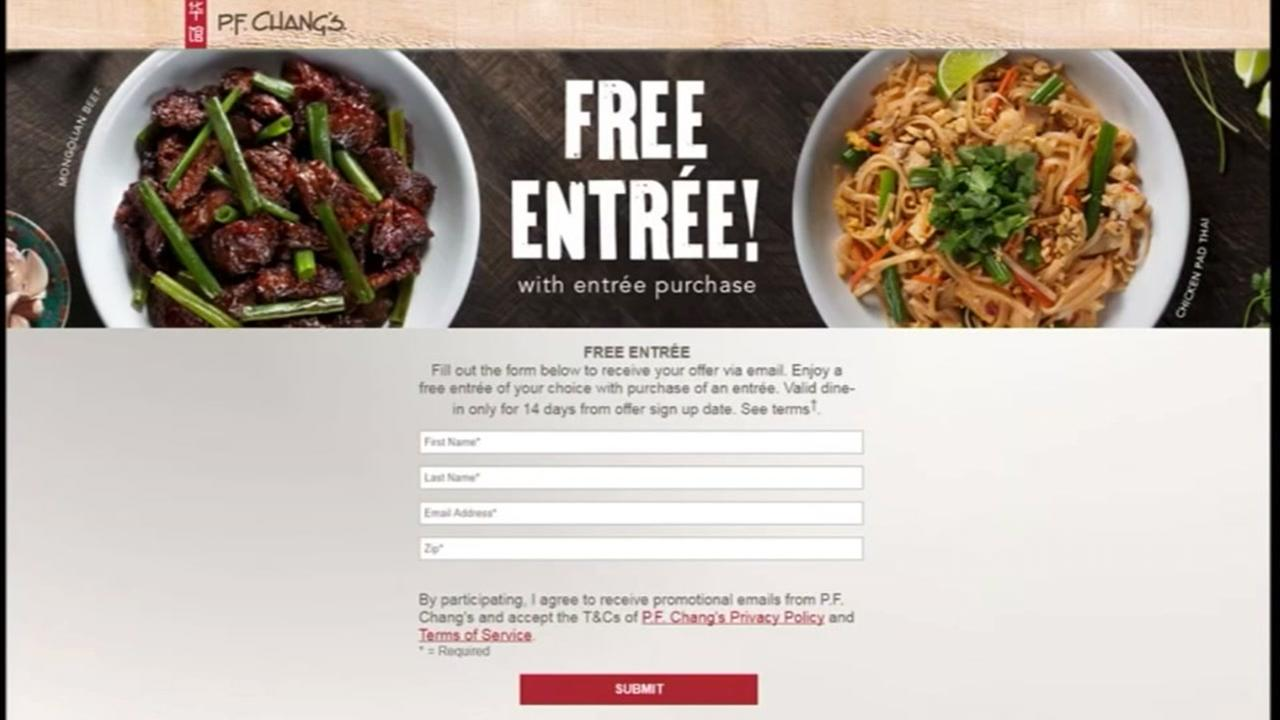 BOGO: PF Chang\'s offering free entree with purchase | abc13.com