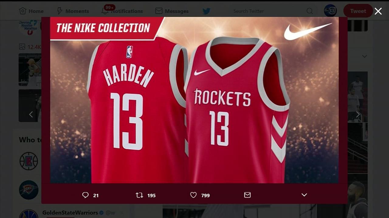 Buy new Rockets Nike jersey