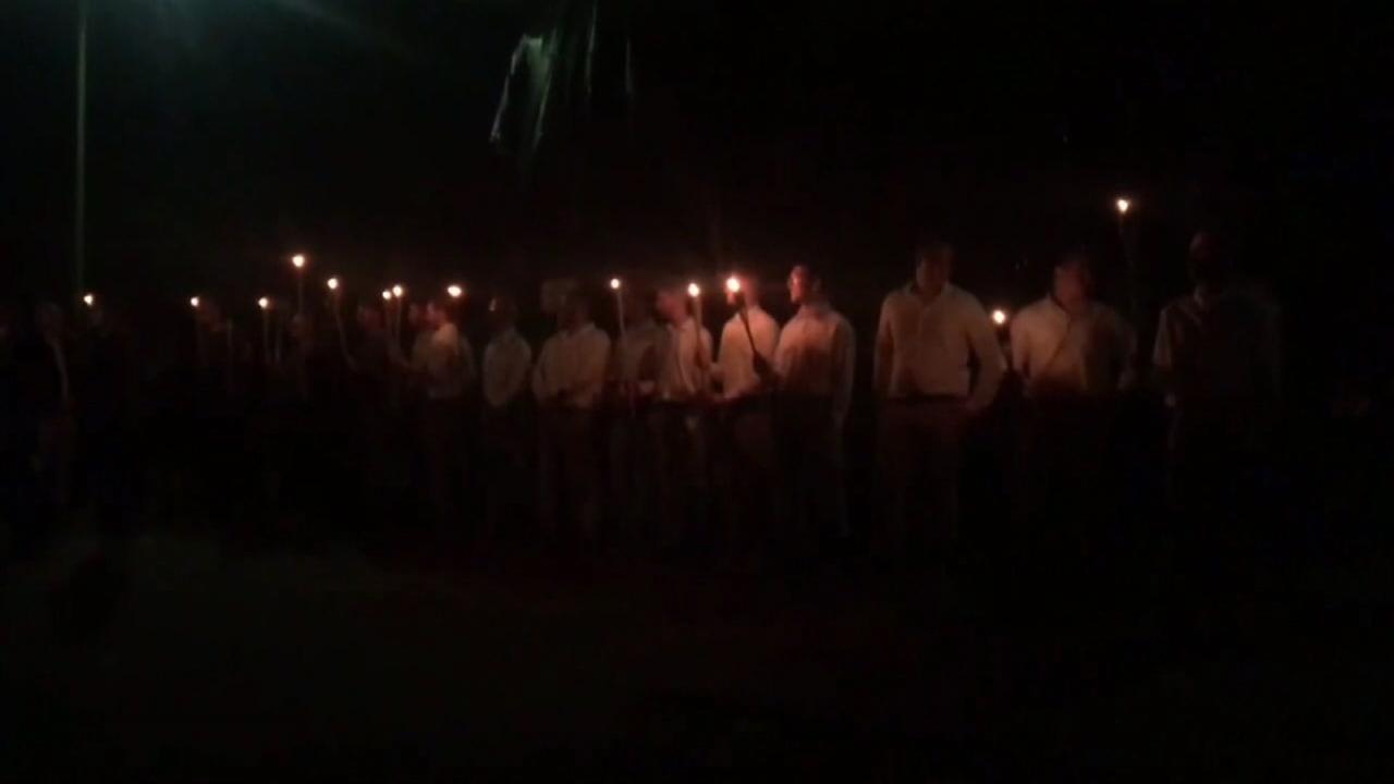 Torch rally in Charlottesville