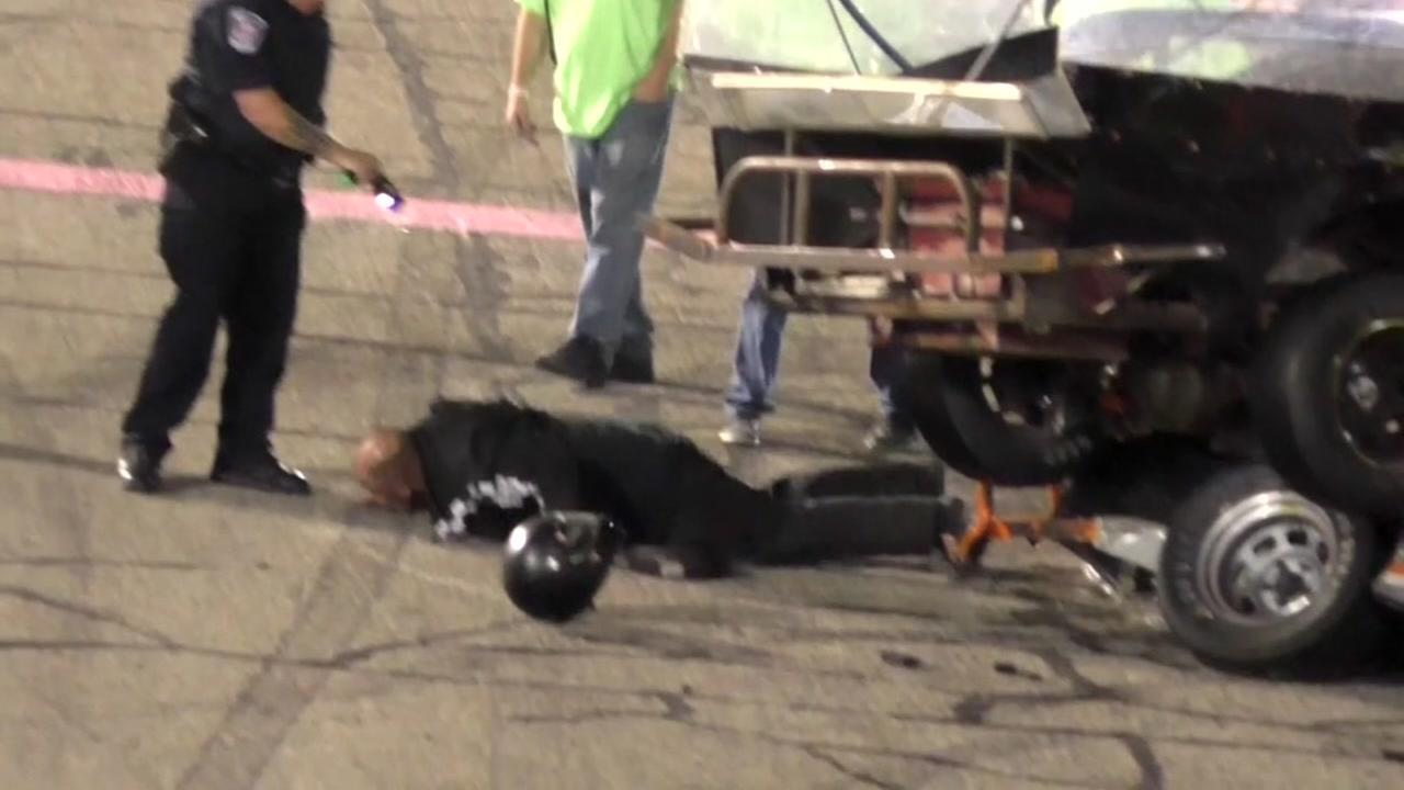 Crash leads to fight, stun gun, arrests on Indiana racetrack