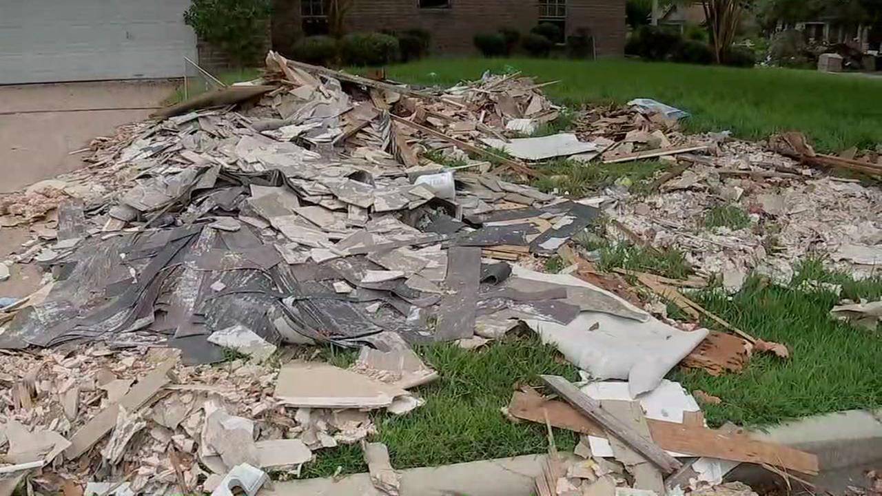 Dickinson making final debris pass