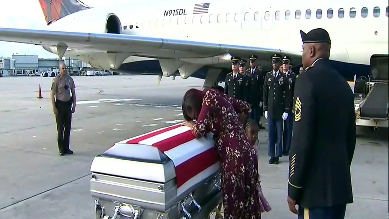 Trump defends comment to widow of soldier