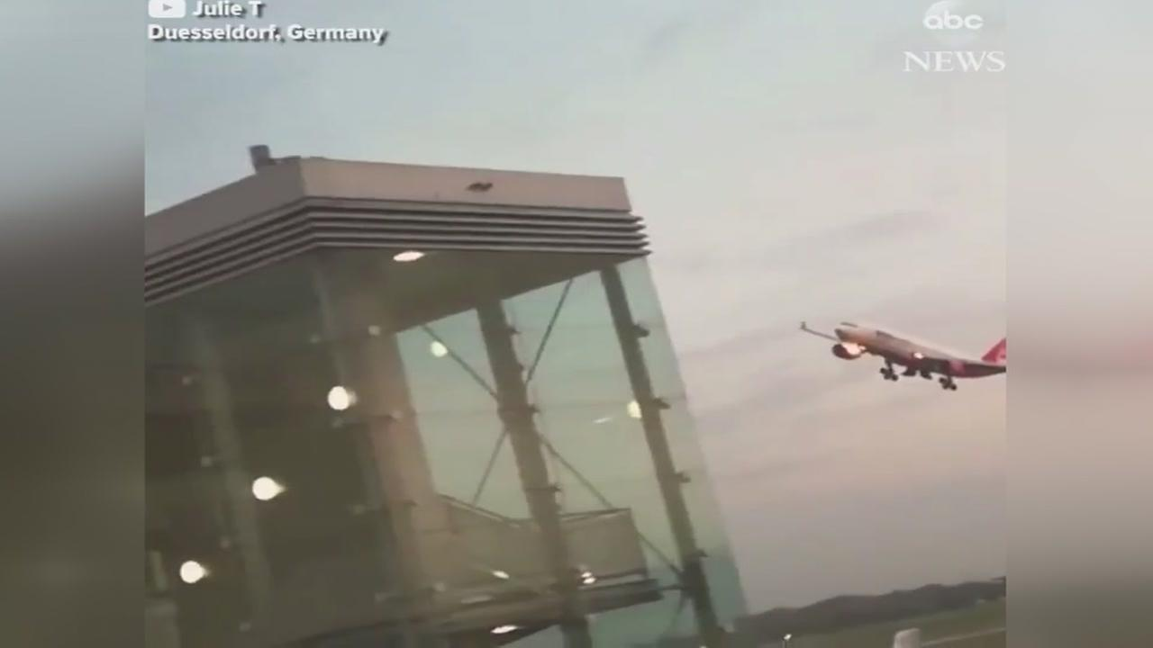 Thats low: Aircraft flies close to ground in aborted landing