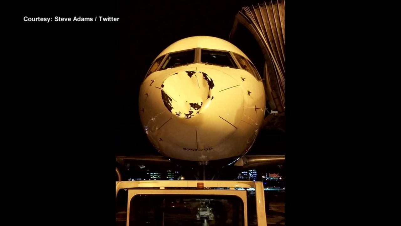 Nose of plane carrying OKC team dented on flight
