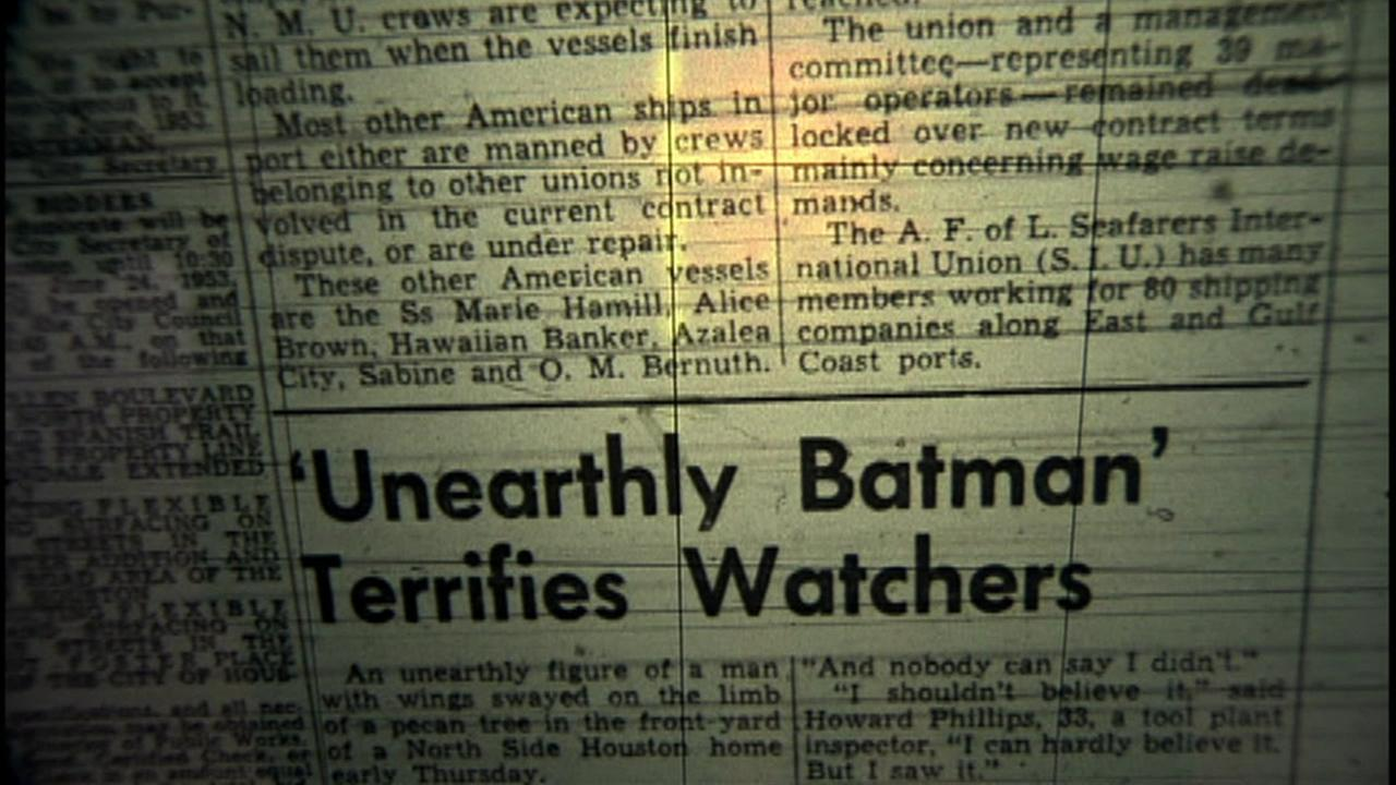 Sighting of Houston batman still a mystery after 60 years