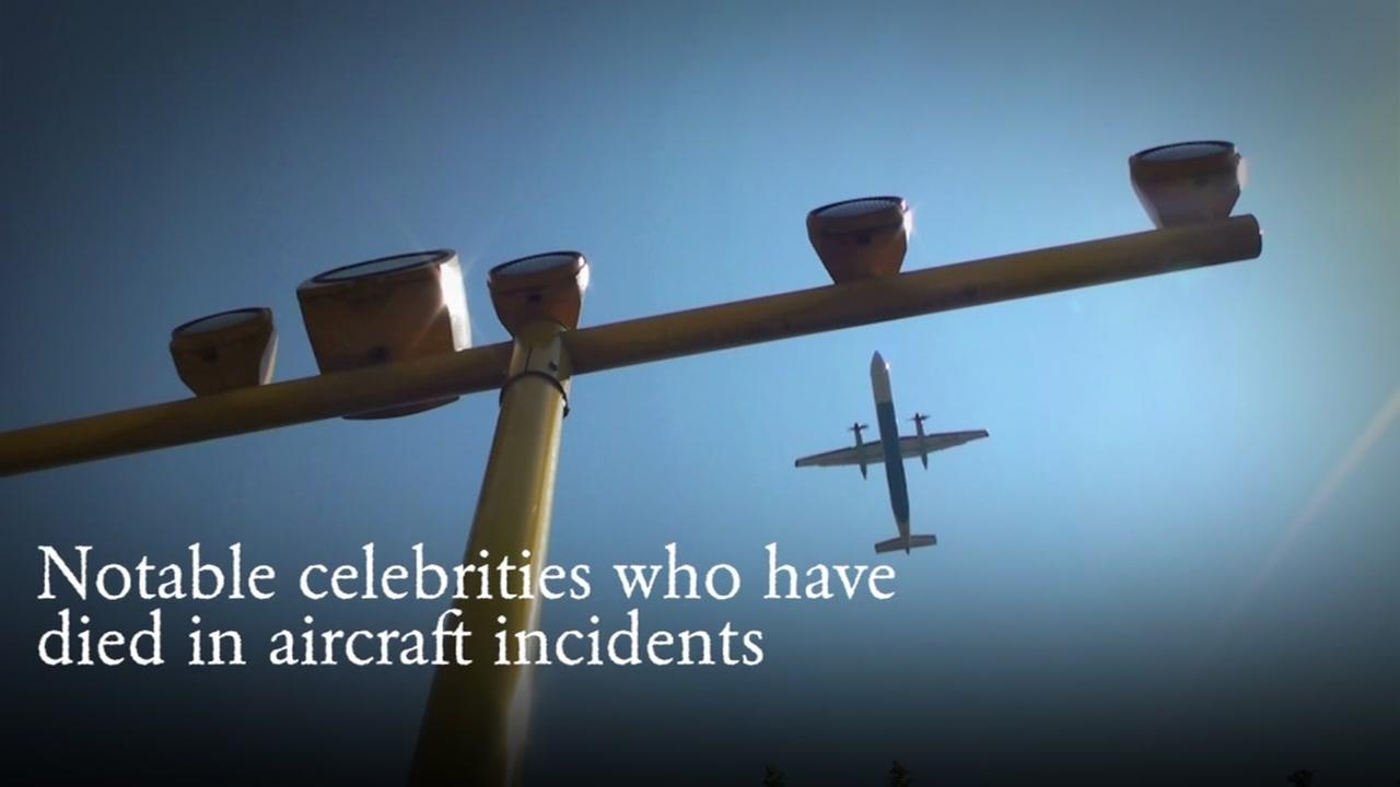 Notable celebrities who died in aircraft incidents