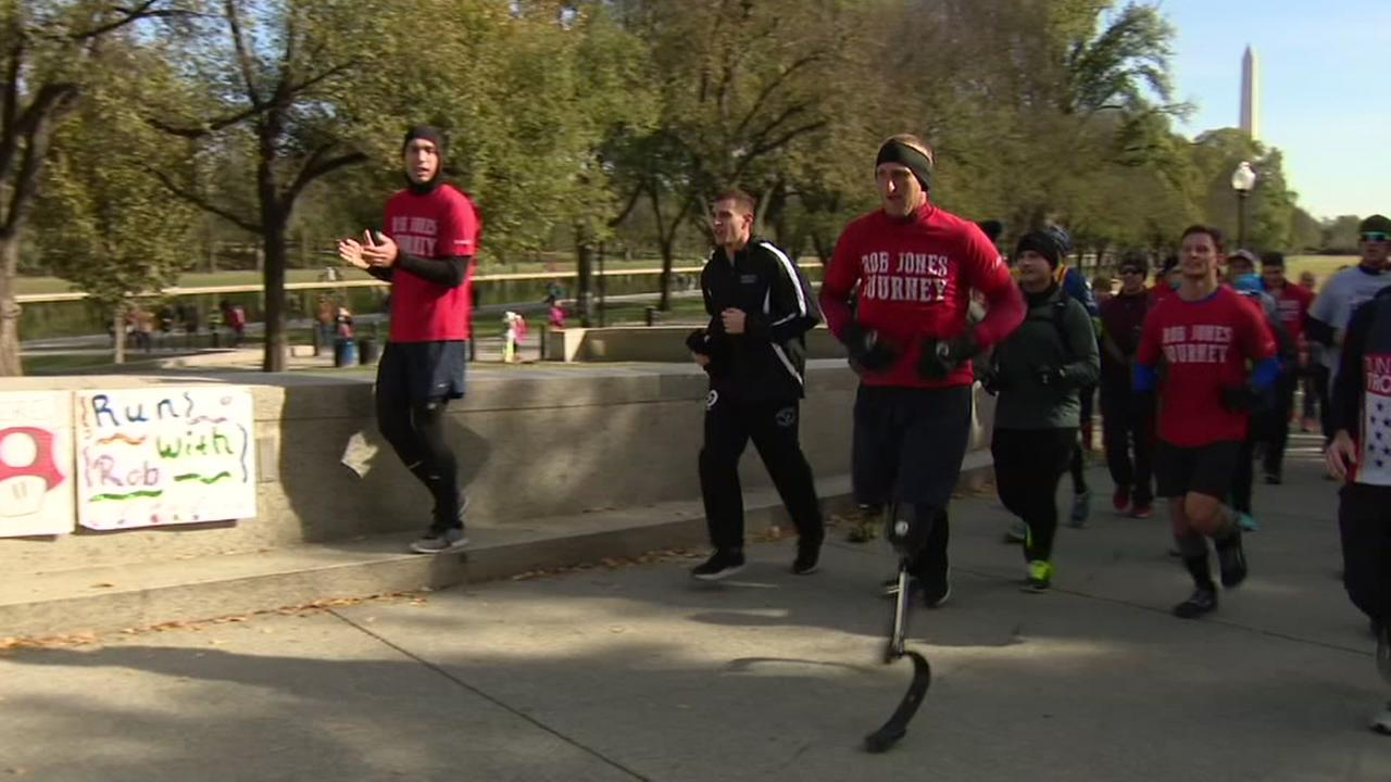 Double amputee veteran completes 31 marathons in a month