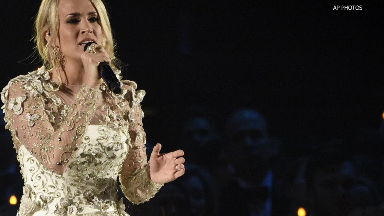 Singer Carrie Underwood recuperating after fall at home