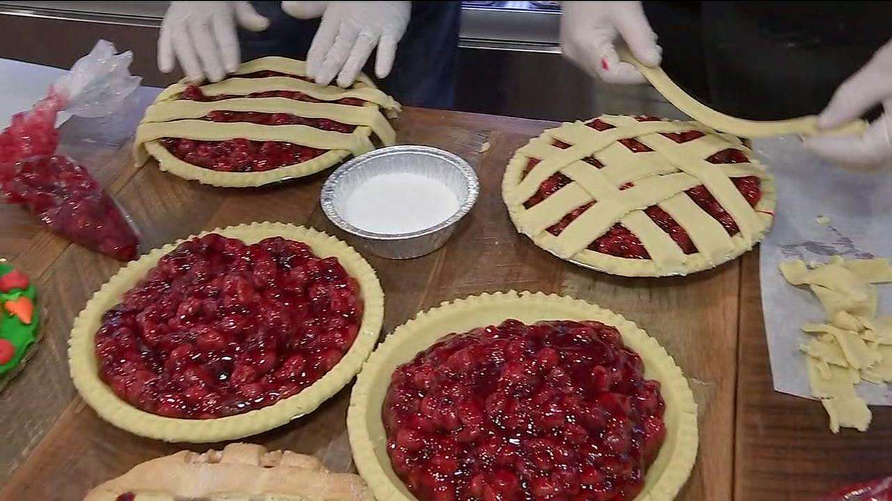 Three Brothers Bakery prepping to make pies for Thanksgiving