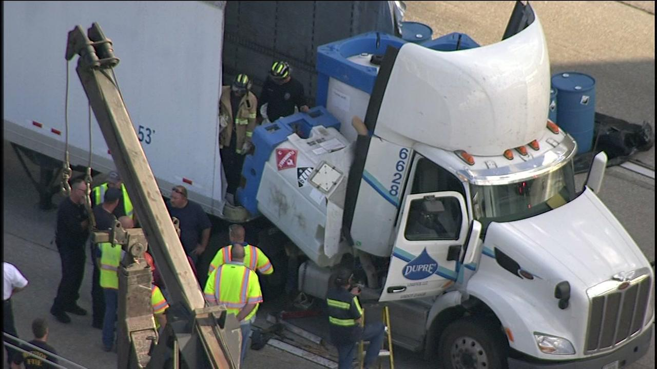 Major traffic jams after hazmat spill on I-10 westbound