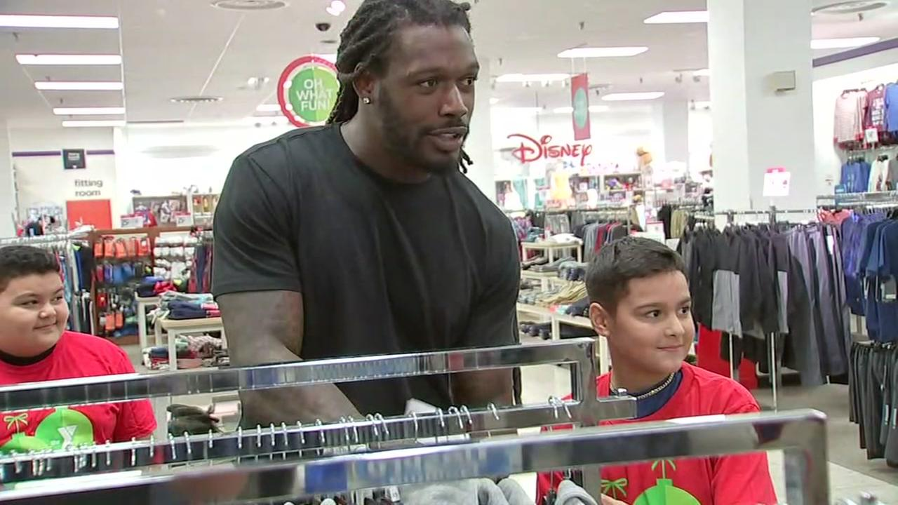 Sports stars boost children in need with shopping spree