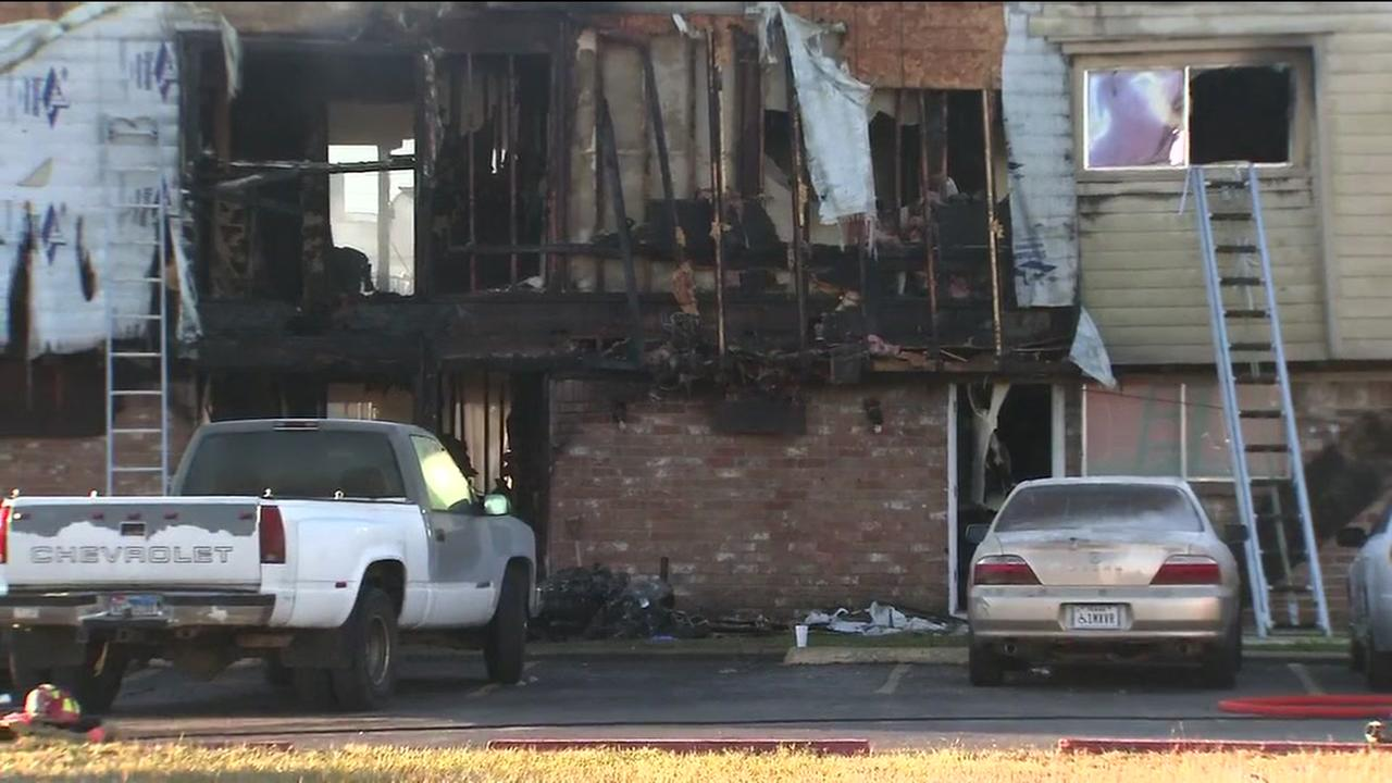 Resident jump from windows to escape fire