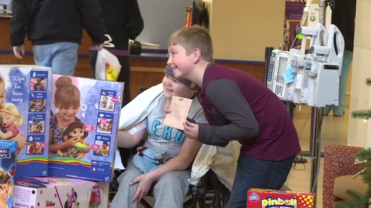 Boy gifts 176 to childrens home