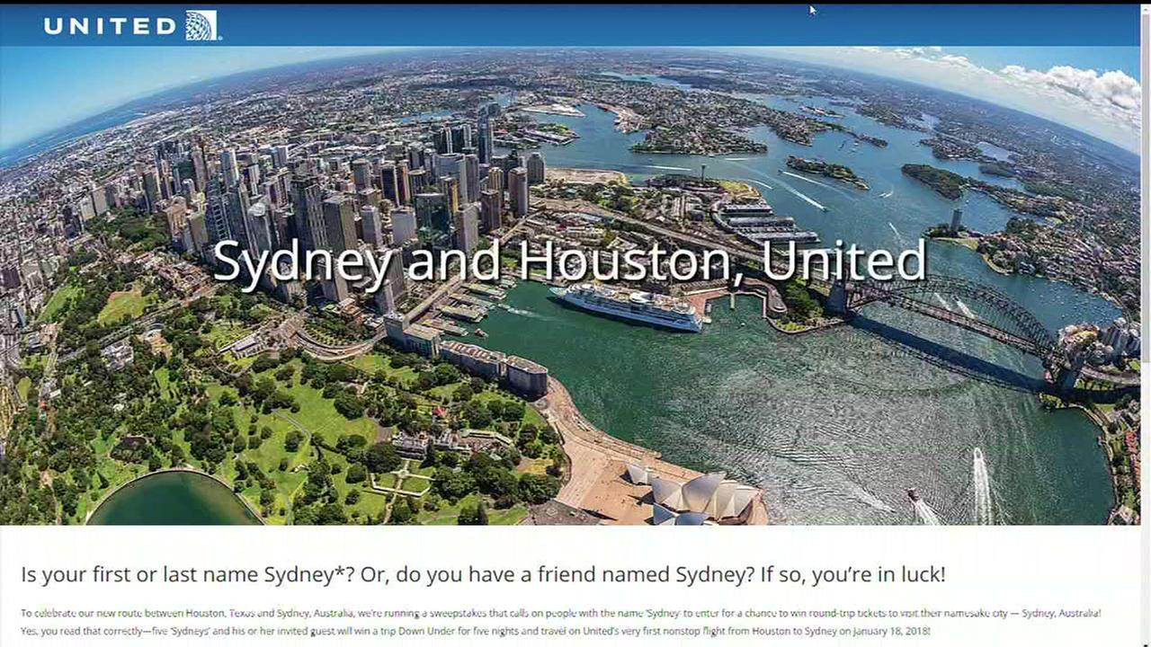 Know a Sydney? Name key in Uniteds Australian flight giveaway