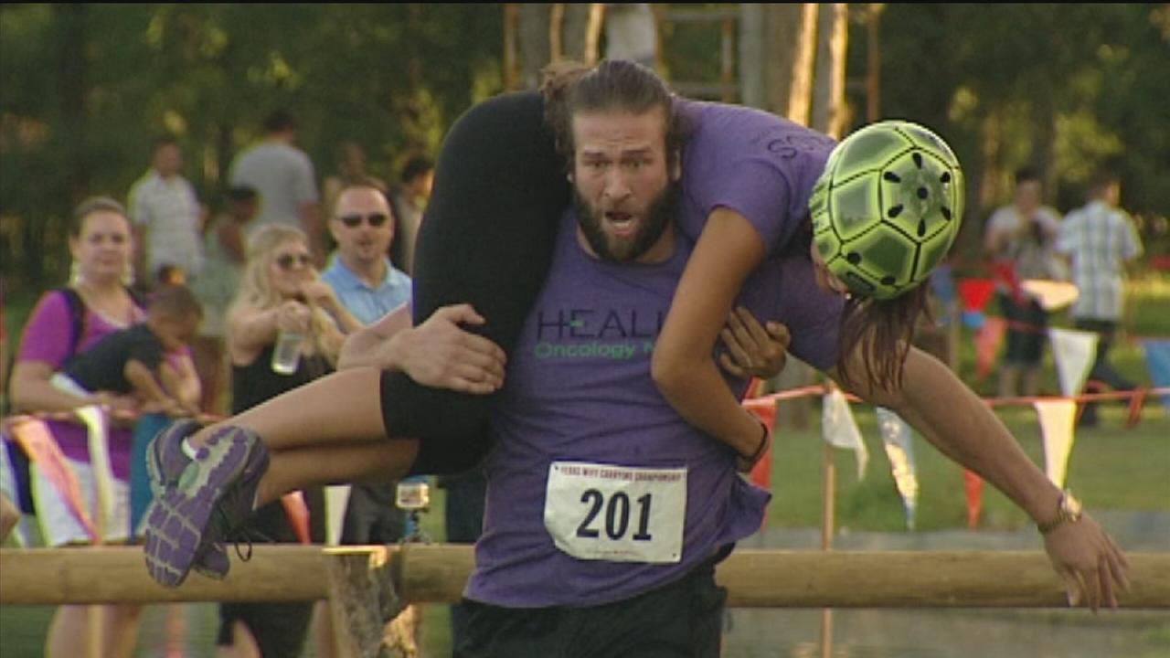 Wife carrying championships held in Richmond