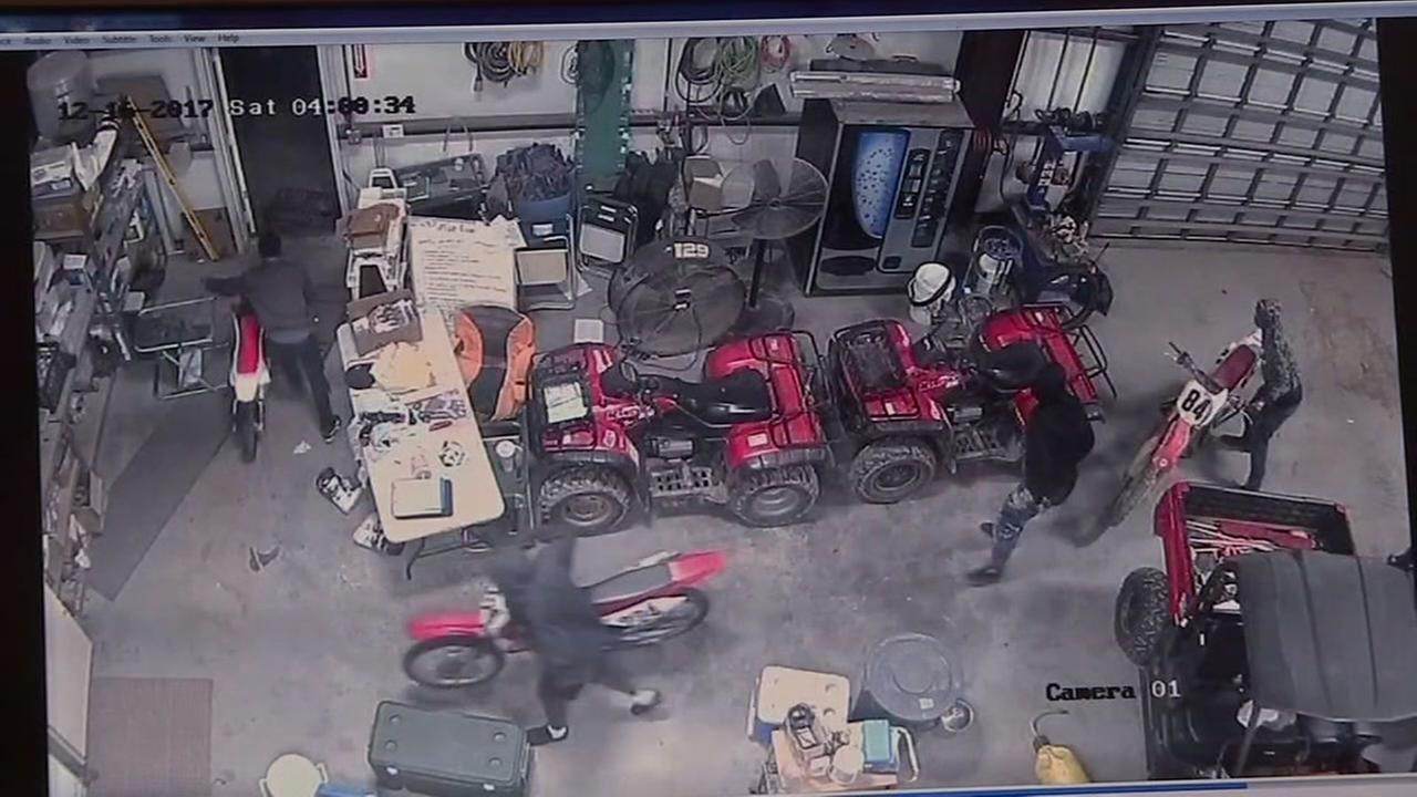 Do you recognize them? Thieves steal motocross bikes