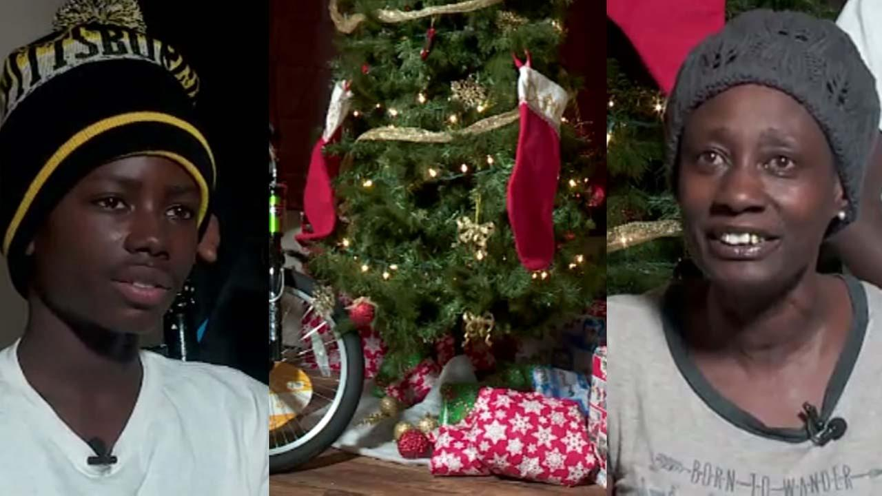 Officers shower family with gifts after learning of boys secret Christmas surprise