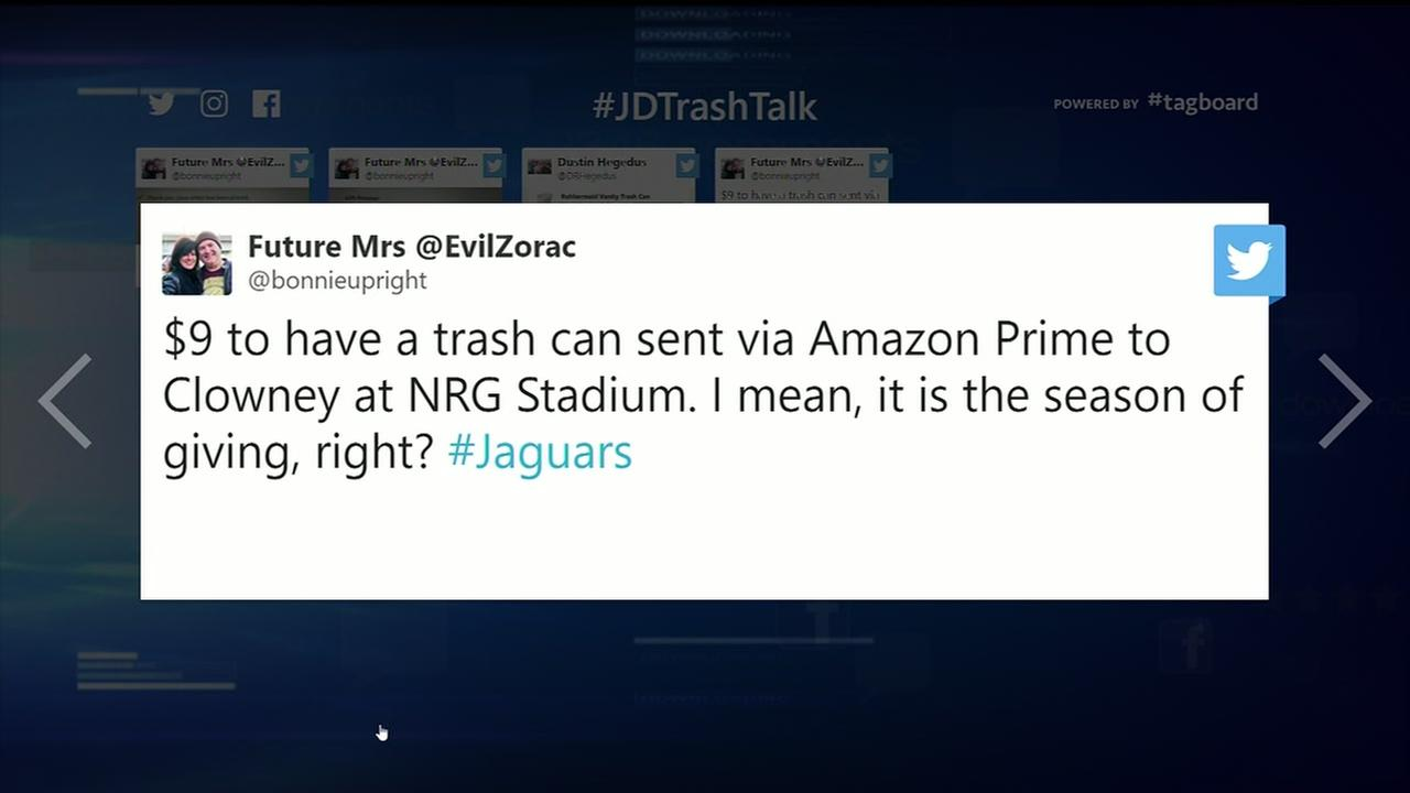 Jaguars fans send trash cans to NRG