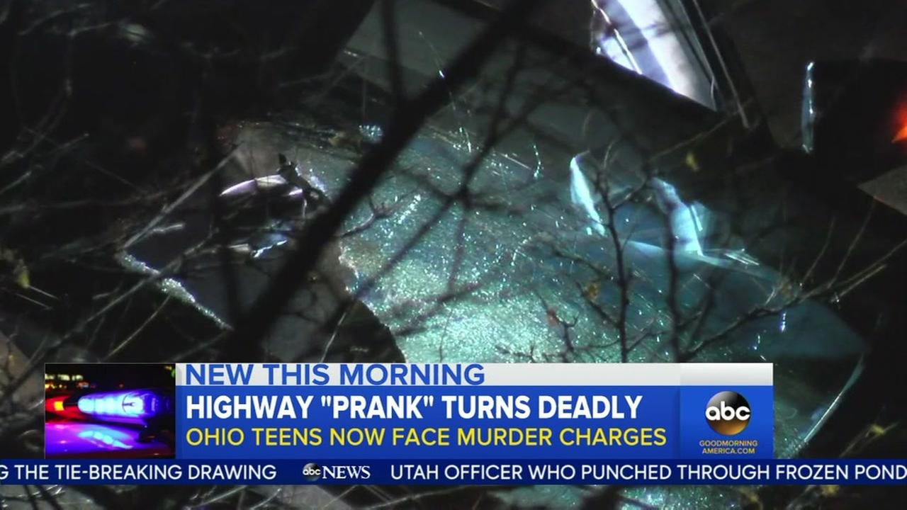 4 teens charged with murder in deadly highway prank