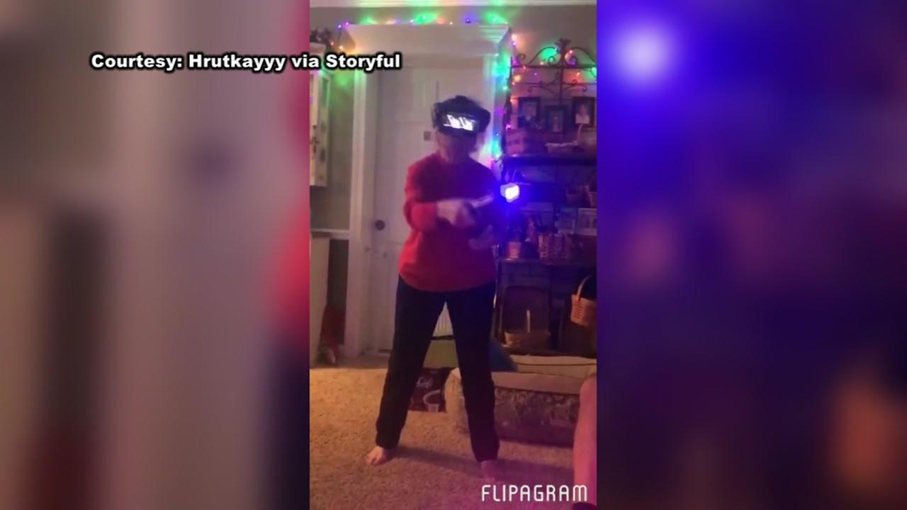 Grandma fights the dark side