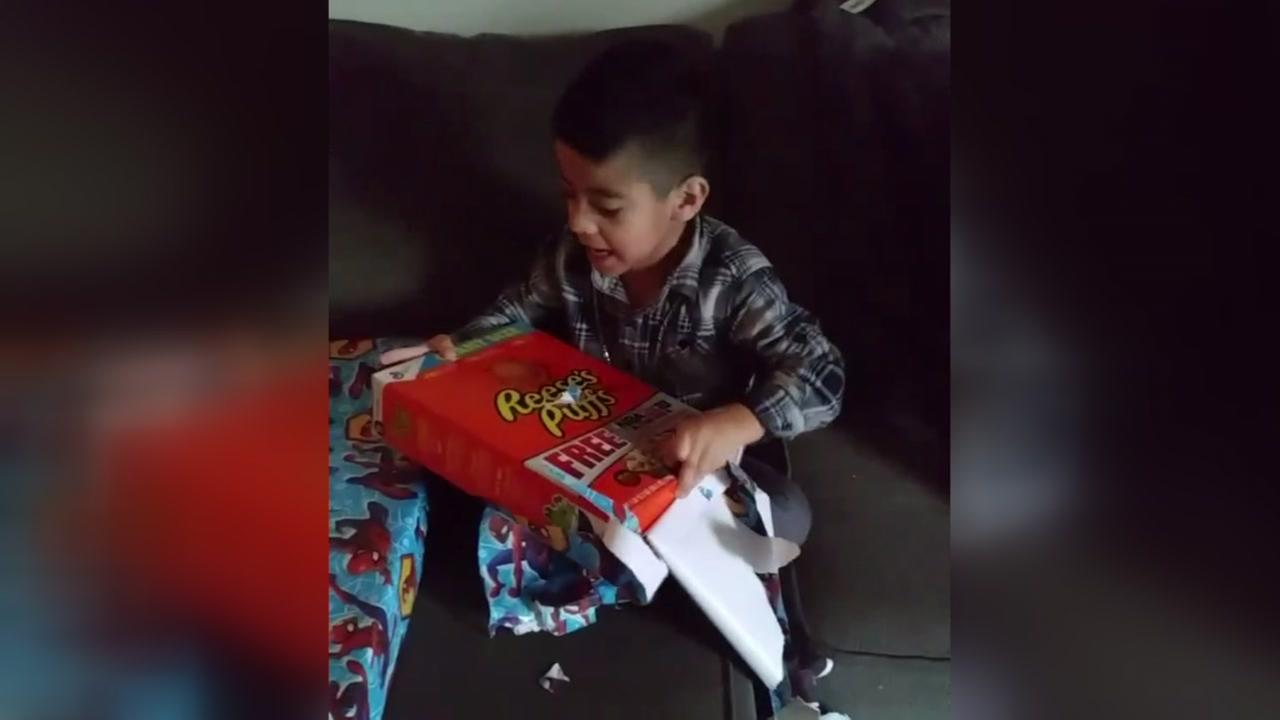 5-year-old Harvey victim shows gratitude over cereal for Christmas