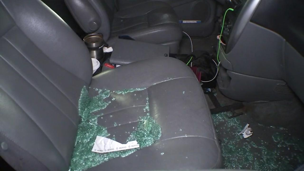 Luxury apt cars damaged