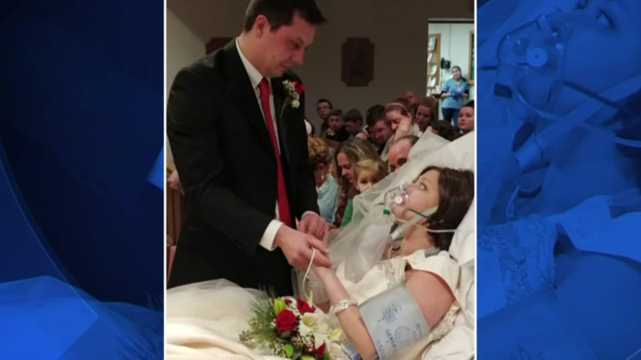 Woman with cancer marries hours before her death