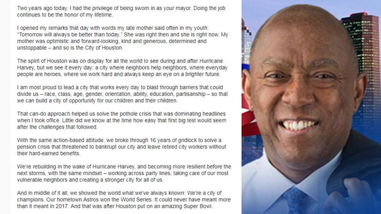 Mayor Sylvester Turner pens letter to Houstonians