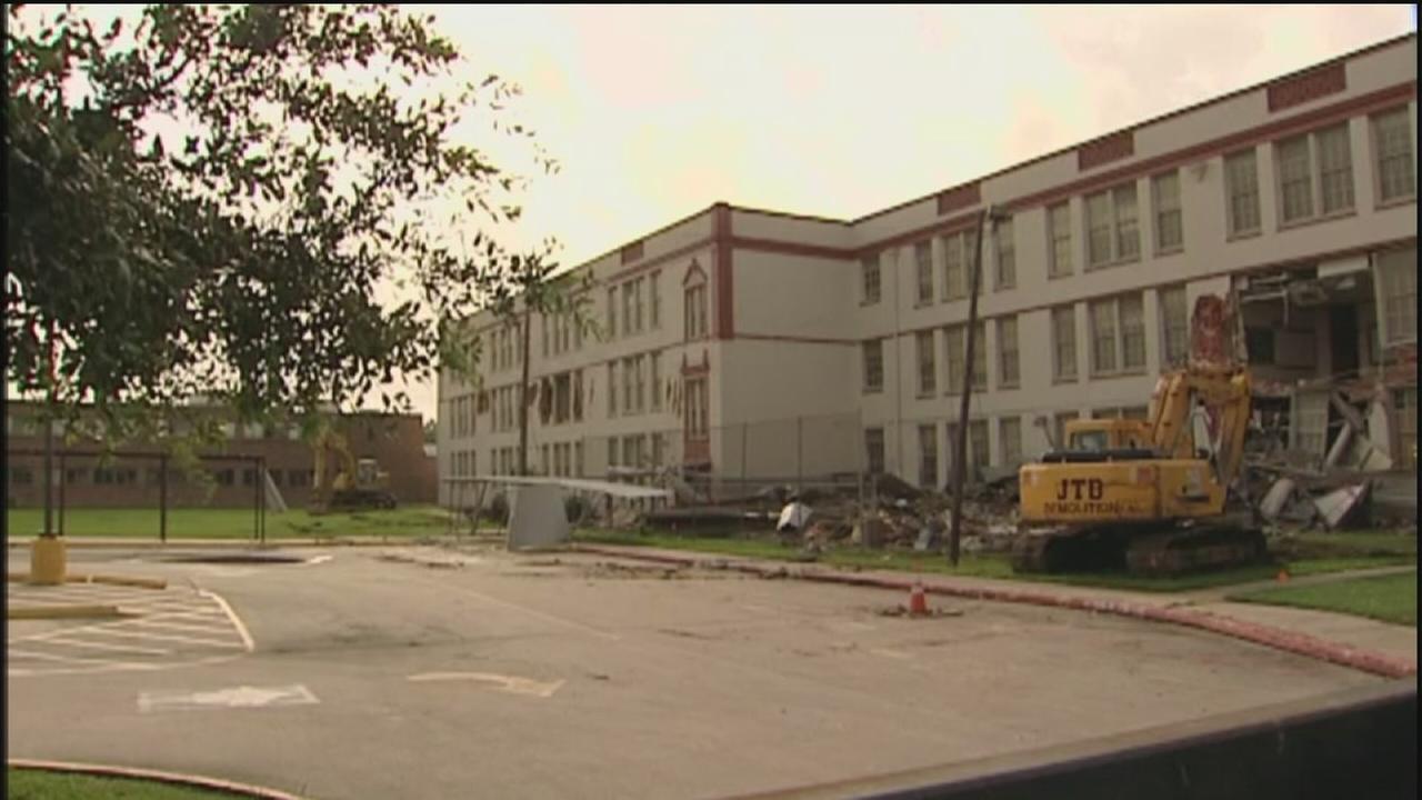 Demolition begins on old Wheatley High School