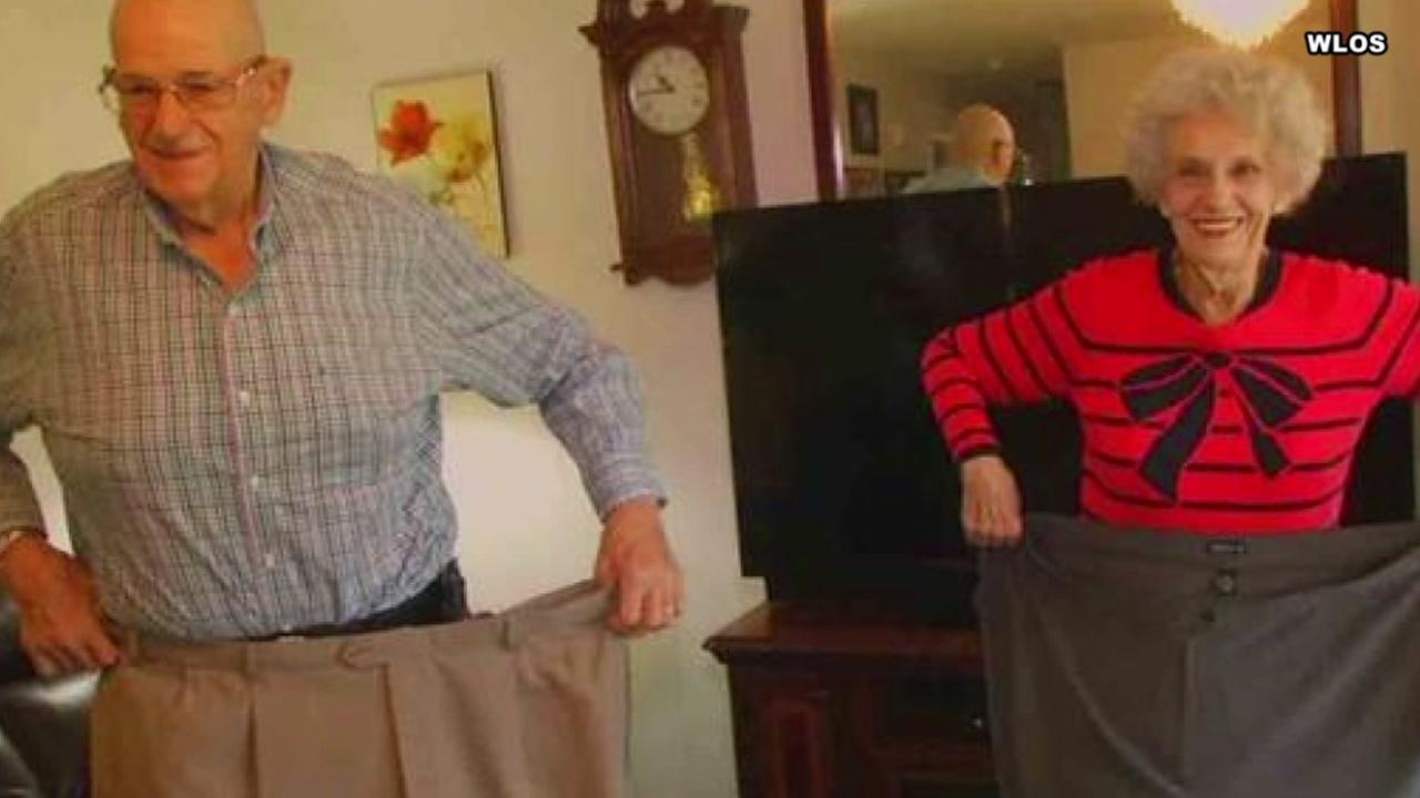 Couple in their 70s lose nearly 400 pounds