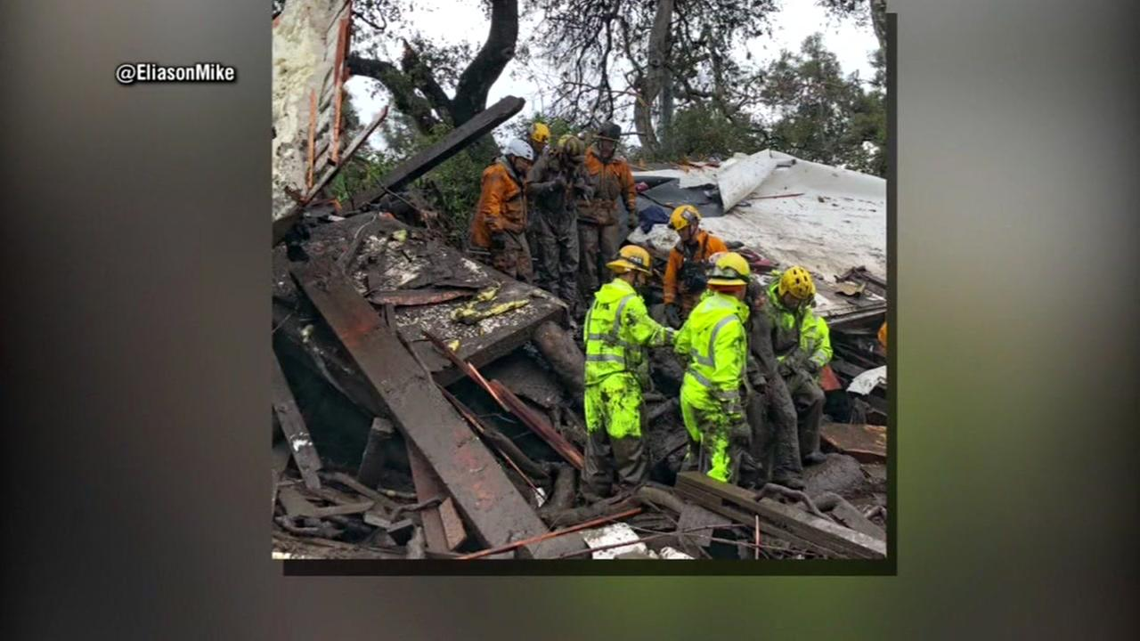 At least 15 dead in California mudslides