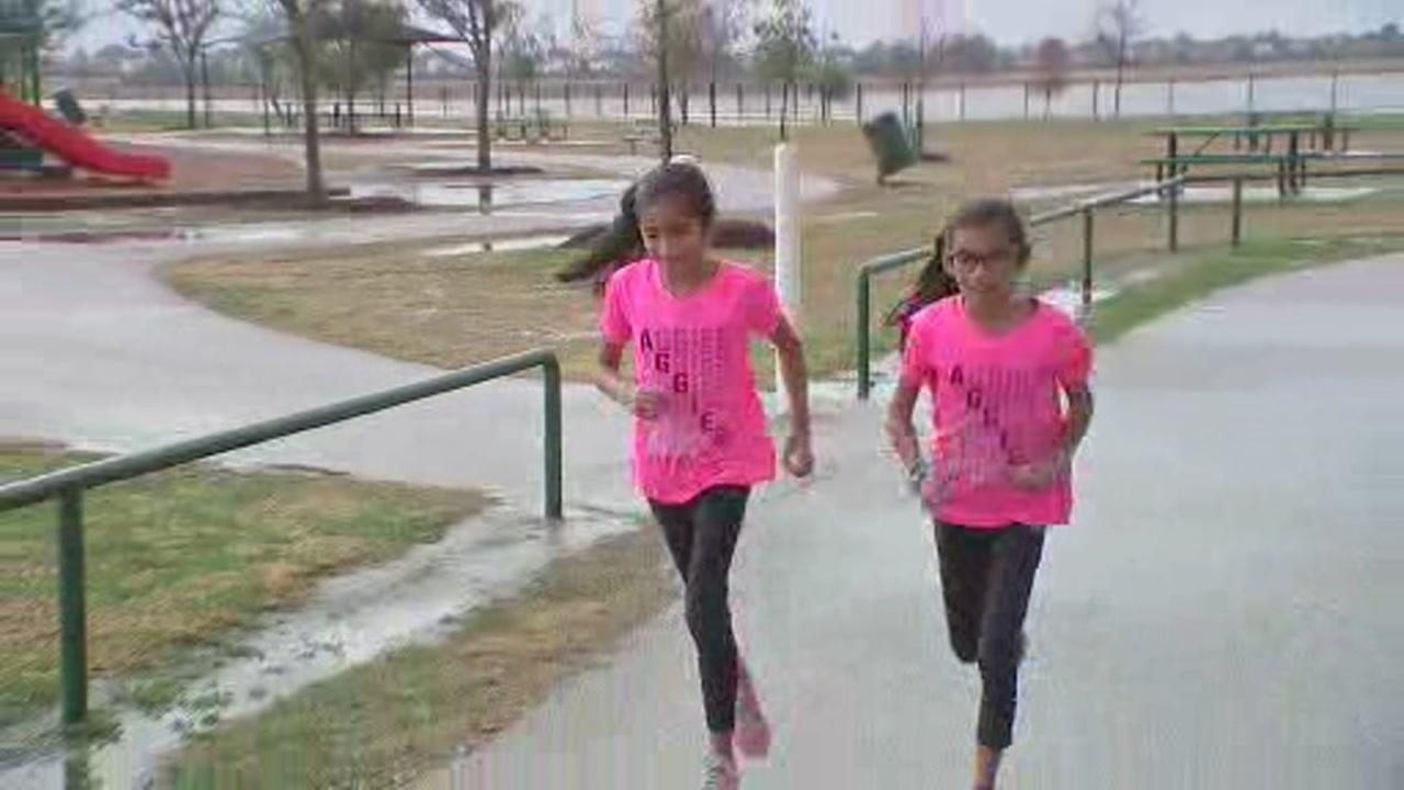 Twins competing in half marathon