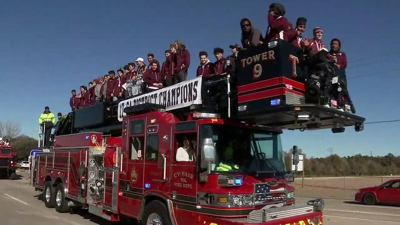 Cy-Fair HS throws parade for first football state title