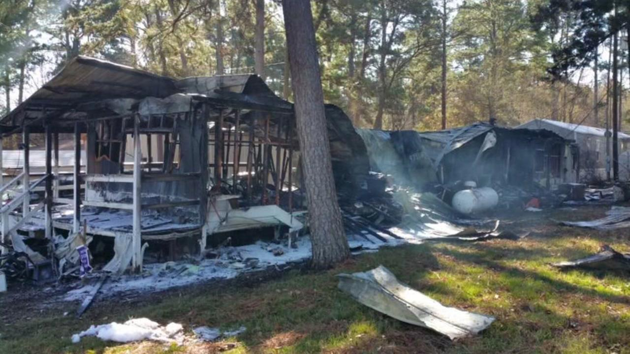 Conroe pet sitter injured in mobile home fire