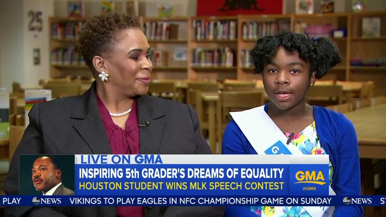 Local student on Good Morning America