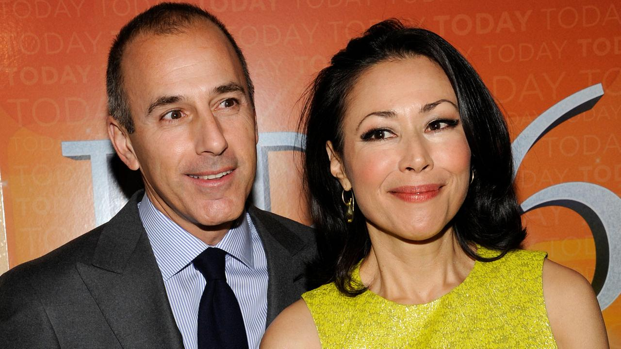 Today show co-hosts Matt Lauer and Ann Curry attend the Today show 60th anniversary celebration at the Edison Ballroom on Thursday, Jan. 12, 2012 in New York.