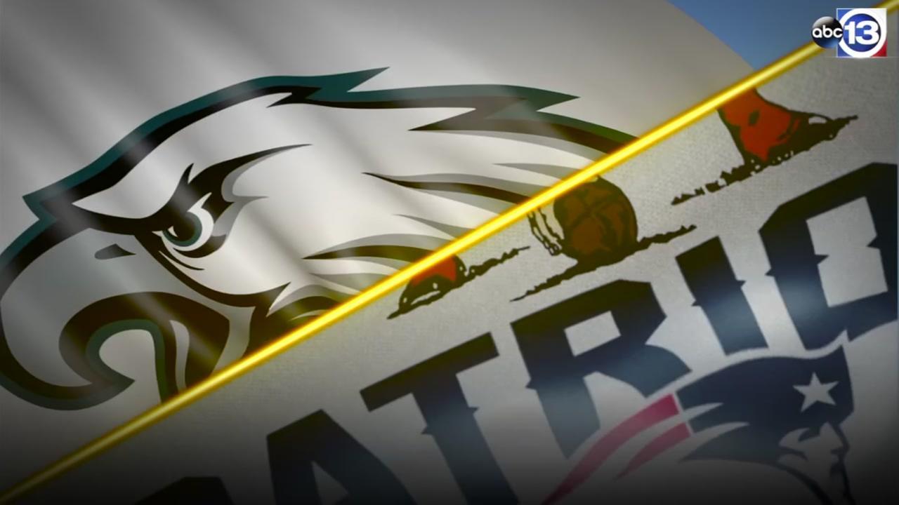 Eagles vs Patriots for Super Bowl 52