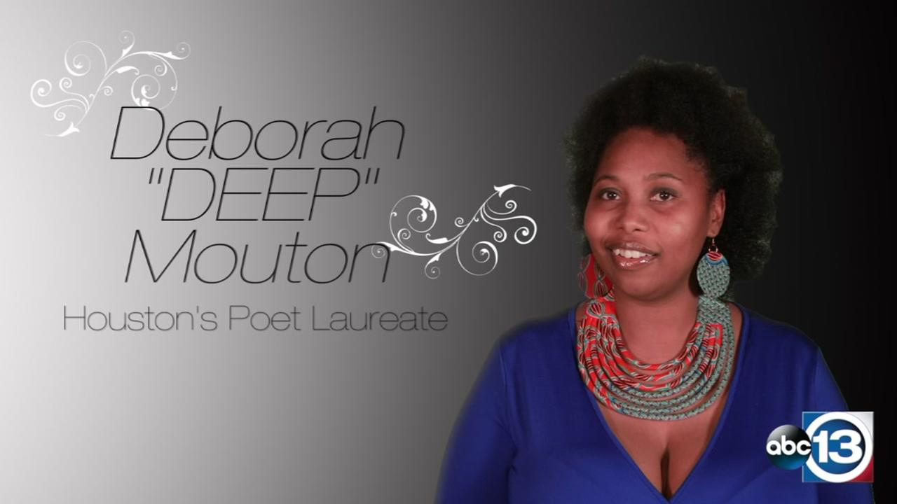 ABC13 is honoring an inspiring contributor to literature, Poet Laureate of Houston, Deborah Mouton.