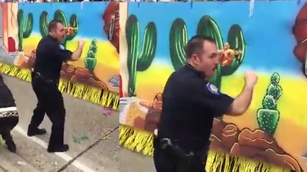 Dancing deputy wows paradegoers