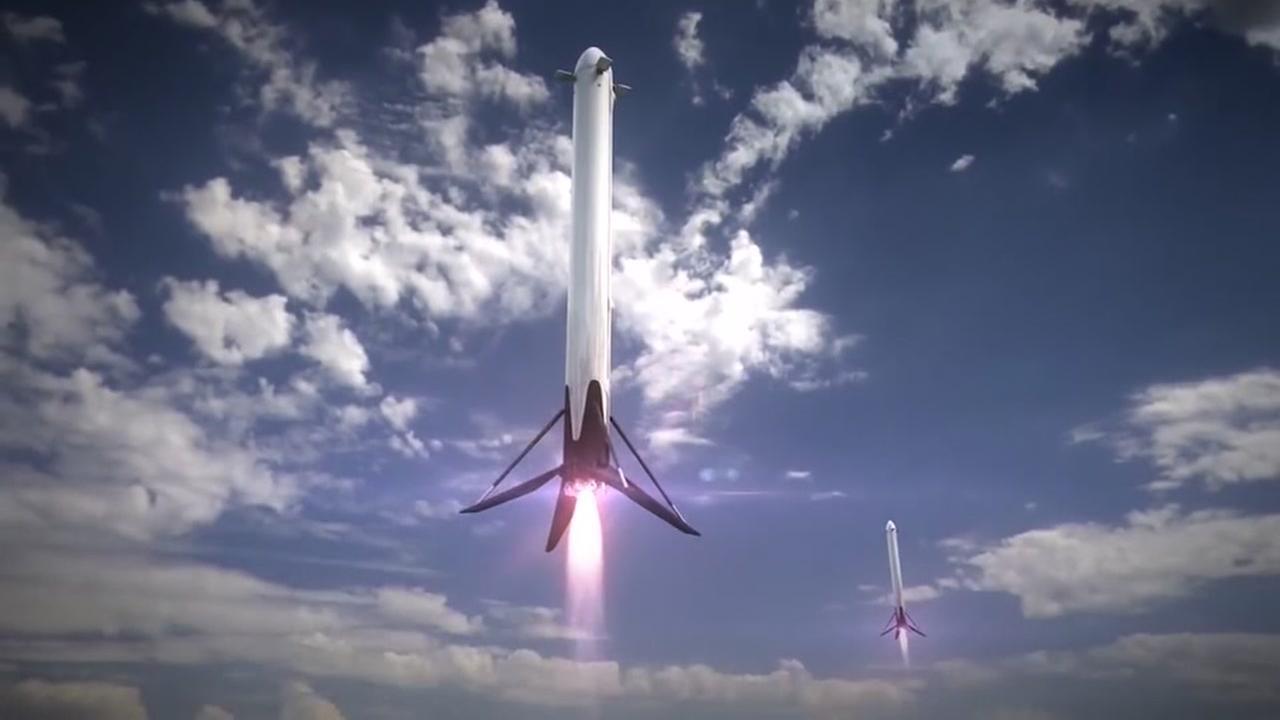SpaceX launching heavy Falcon Rocket
