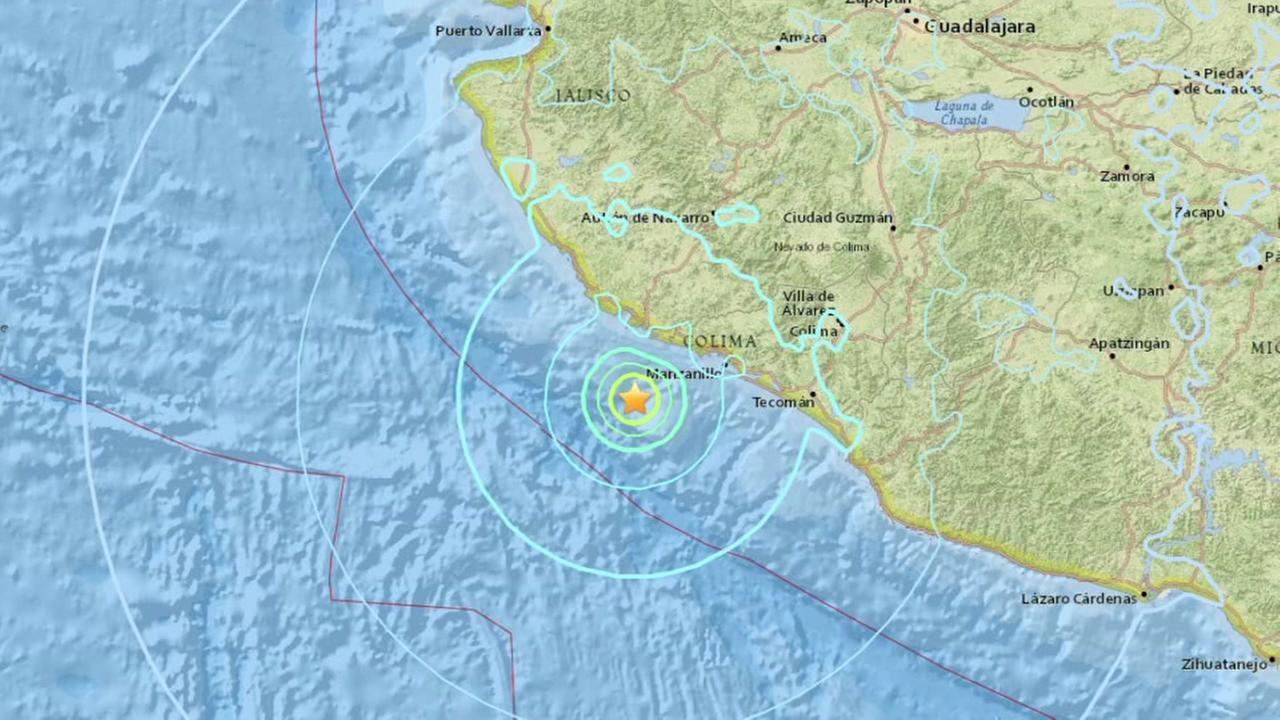 Earthquake reported off the western coast of Jalisco