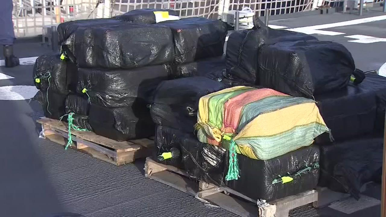 Coast Guard offloads roughly 7 tons of seized cocaine