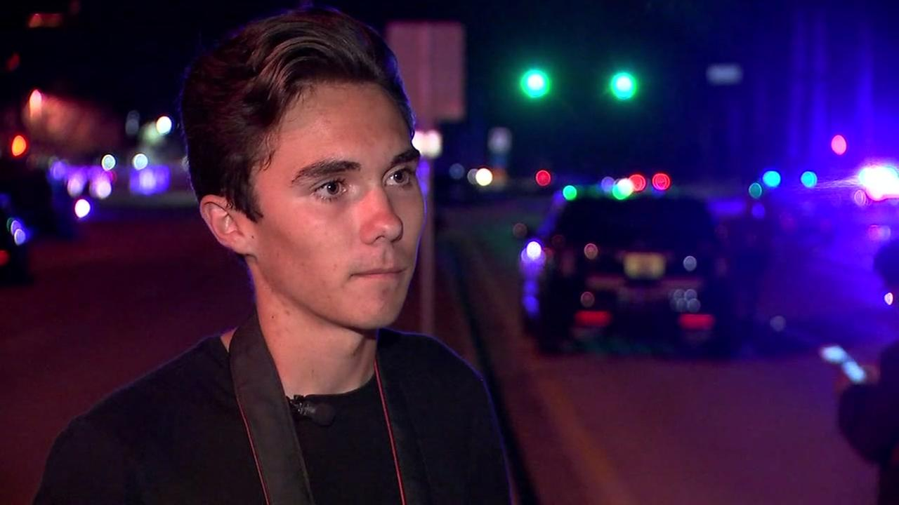 David Hogg describes terrifying moments of Florida mass shooting