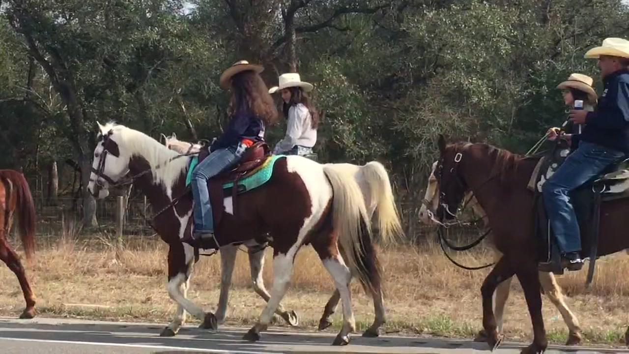 Trail riders heading to Houston