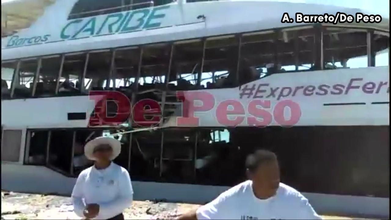 Mexican ferry explodes while docked, injuring 18 people