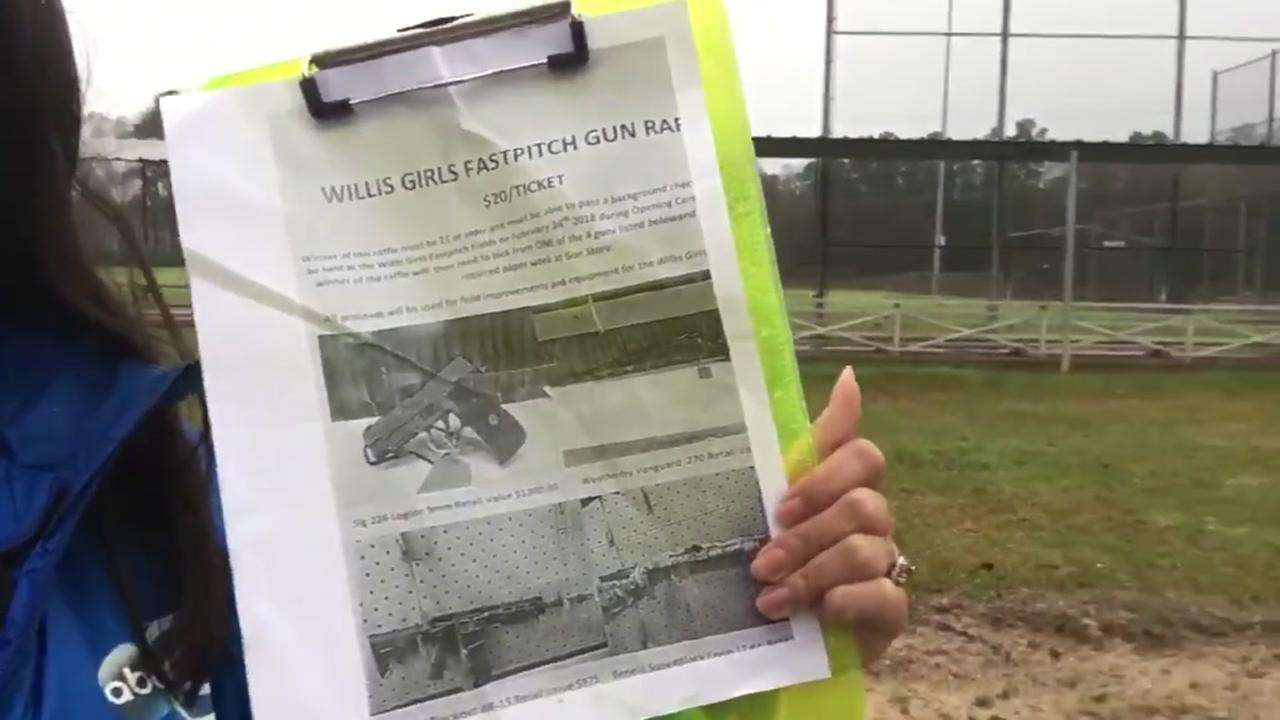 Softball team scraps plan to raffle guns