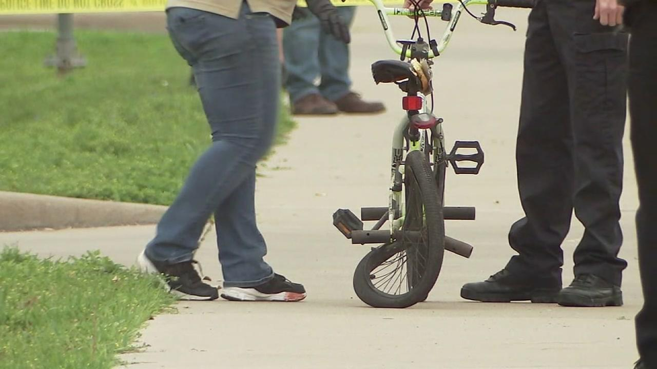 Child riding bike hit and killed by pickup truck